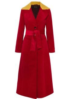 Etro Faux shearling-trimmed cotton-corduroy coat