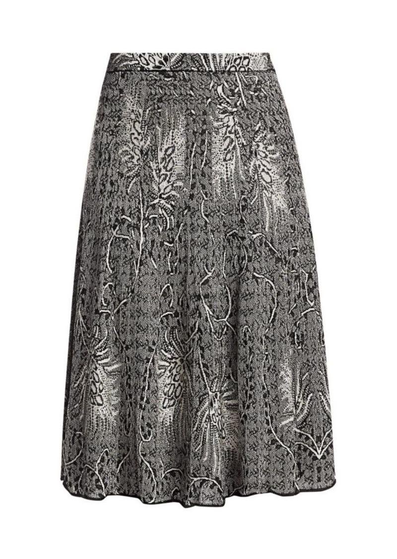Etro Fern Print Midi Skirt