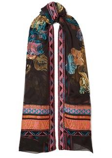 Etro Fil coupé chiffon scarf