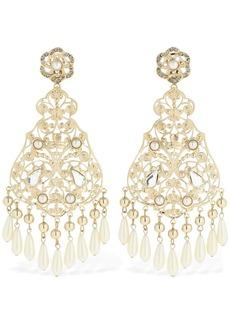 Etro Filigree Drop Earrings W/faux Pearls