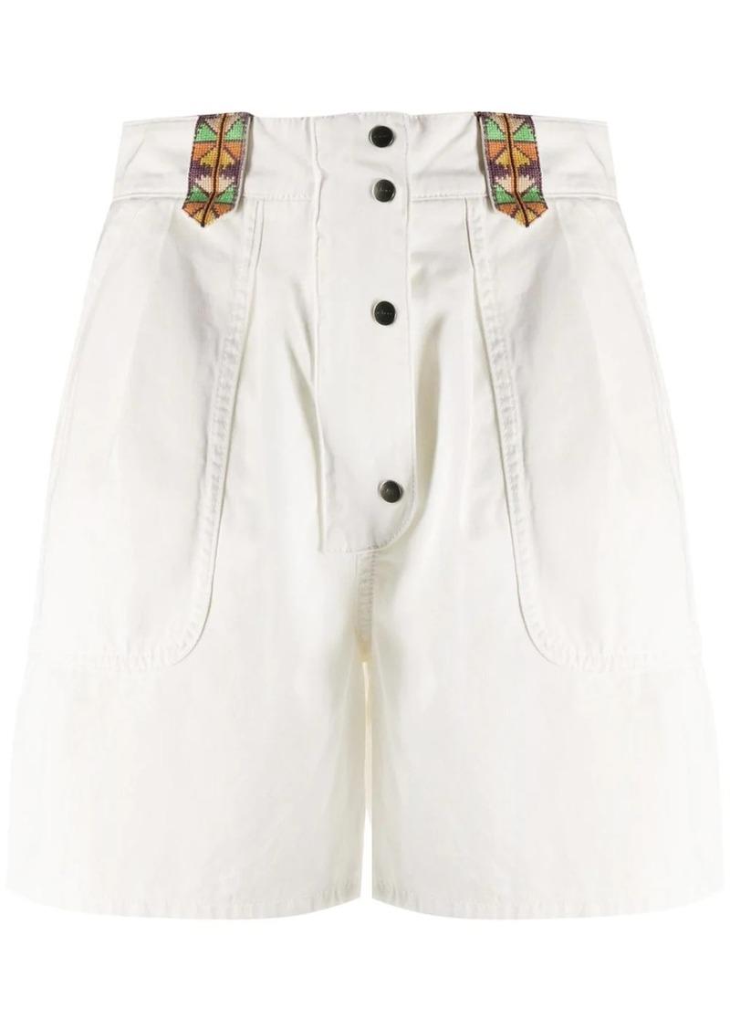Etro flared high-waisted shorts