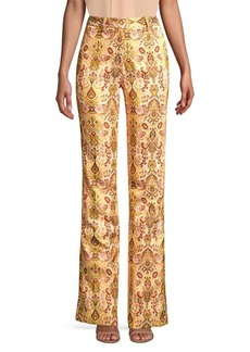 Etro Flared Leg Tapestry Trousers