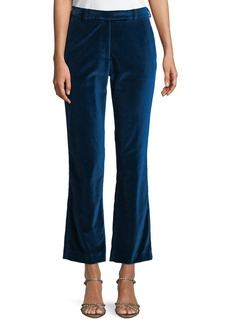 Etro Flared-Leg Velvet Ankle Pants