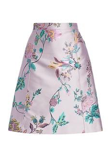 Etro Floral Brocade A-Line Skirt