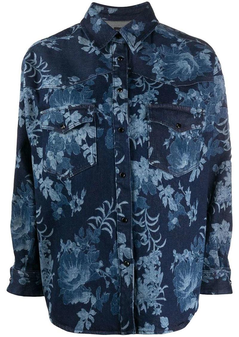 Etro floral denim shirt