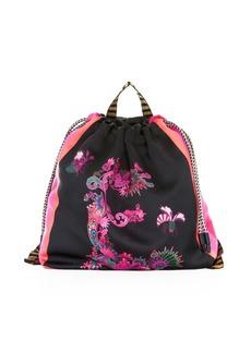 Etro Floral Drawstring Backpack
