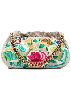 Etro floral-embroidered clutch bag