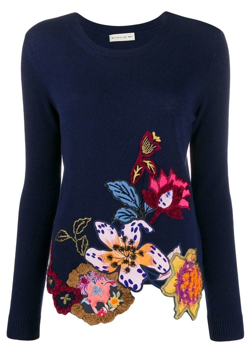 Etro floral embroidered jumper