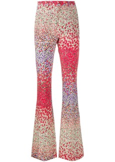 Etro floral flared trousers