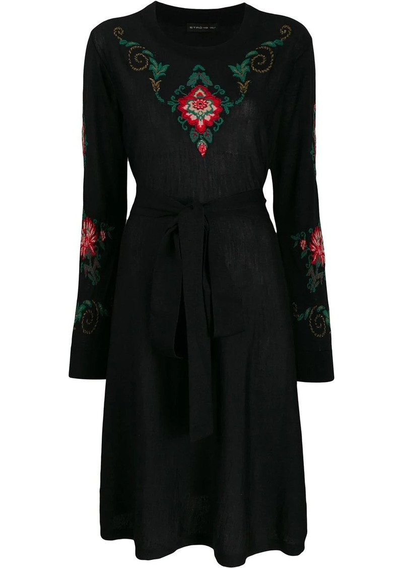 Etro floral intarsia knitted dress