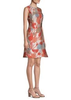 Etro Floral Jacquard Fit-&-Flare Dress
