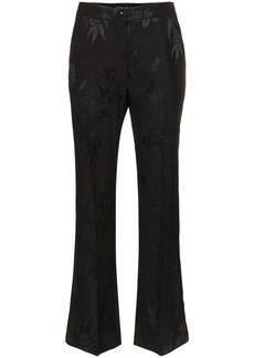 Etro floral jacquard flared trousers
