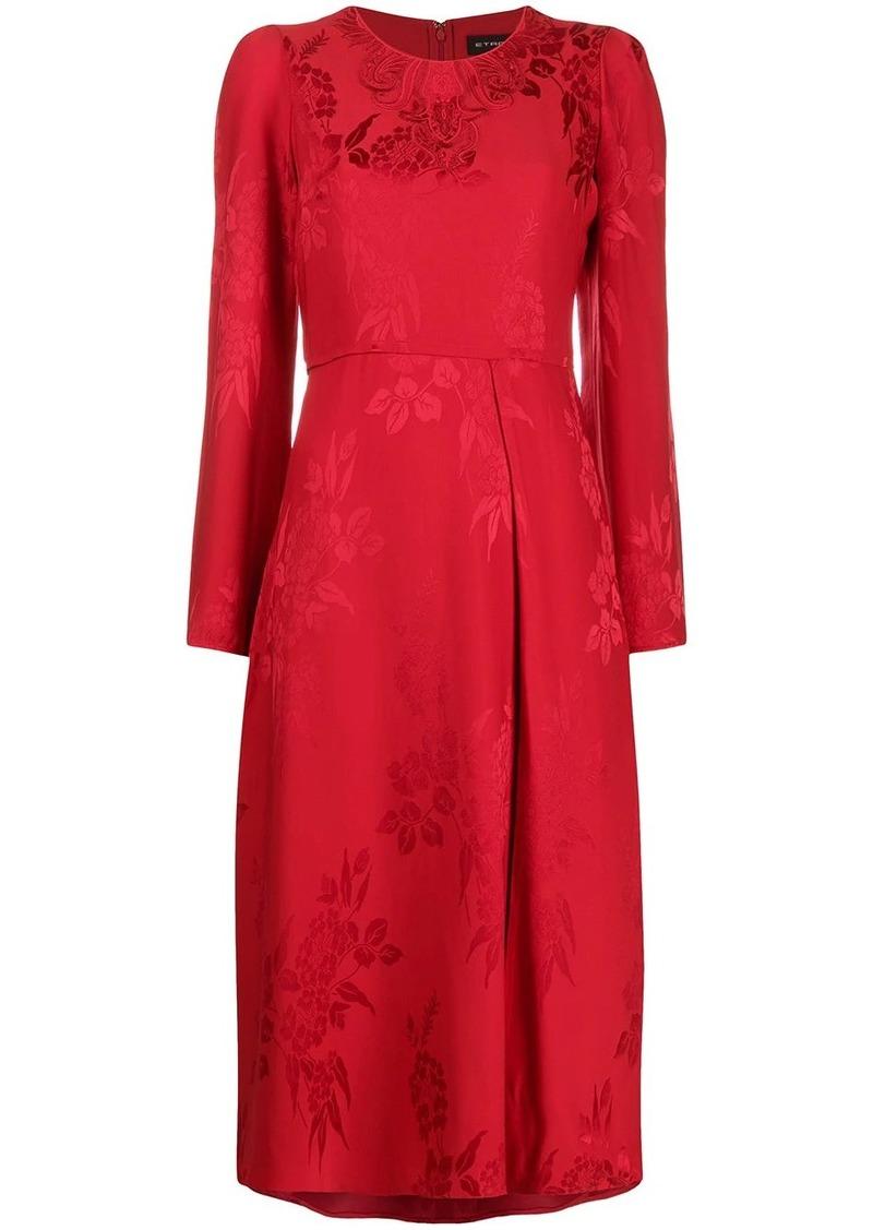 Etro floral-jacquard midi dress