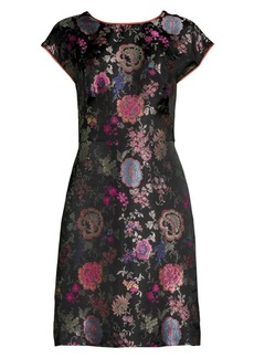 Etro Floral Jacquard Sheath Dress