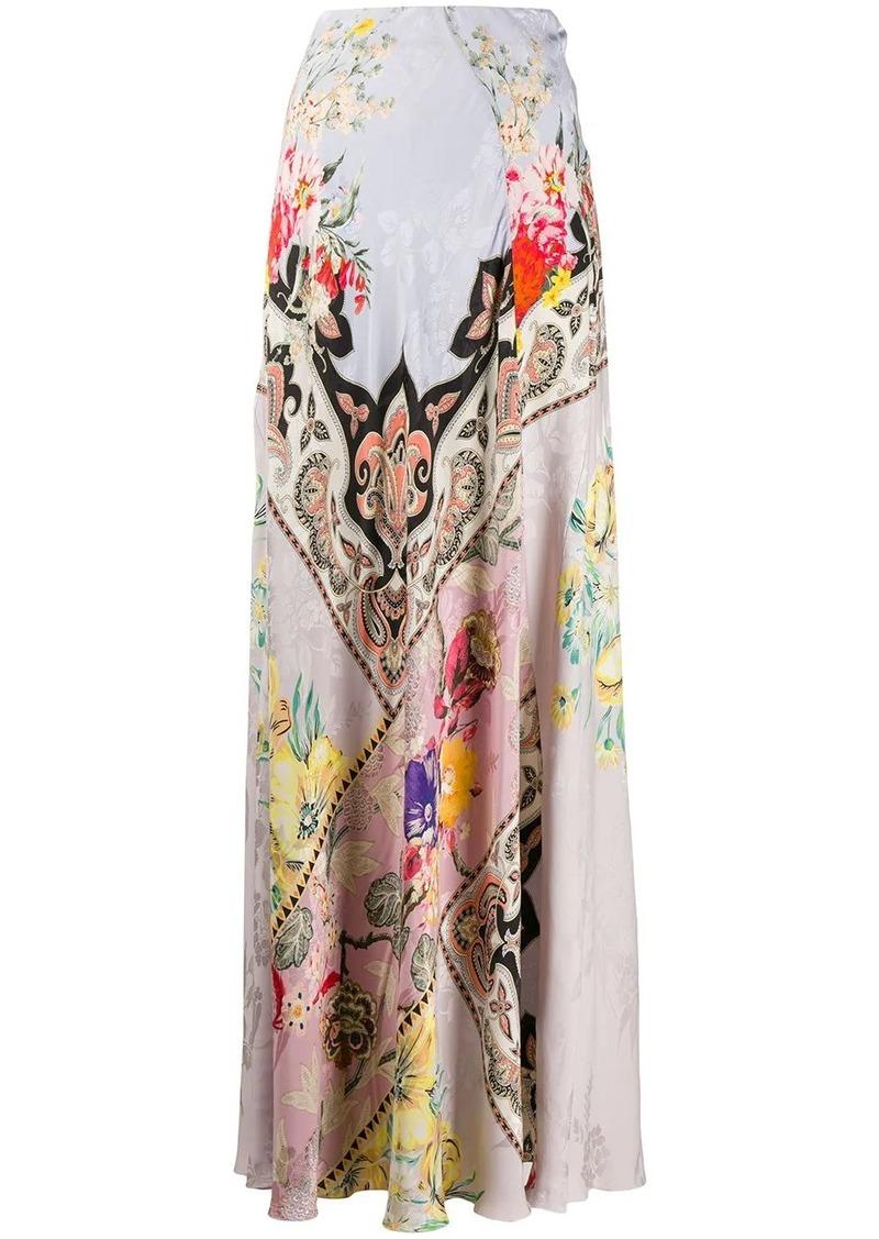 Etro floral long skirt