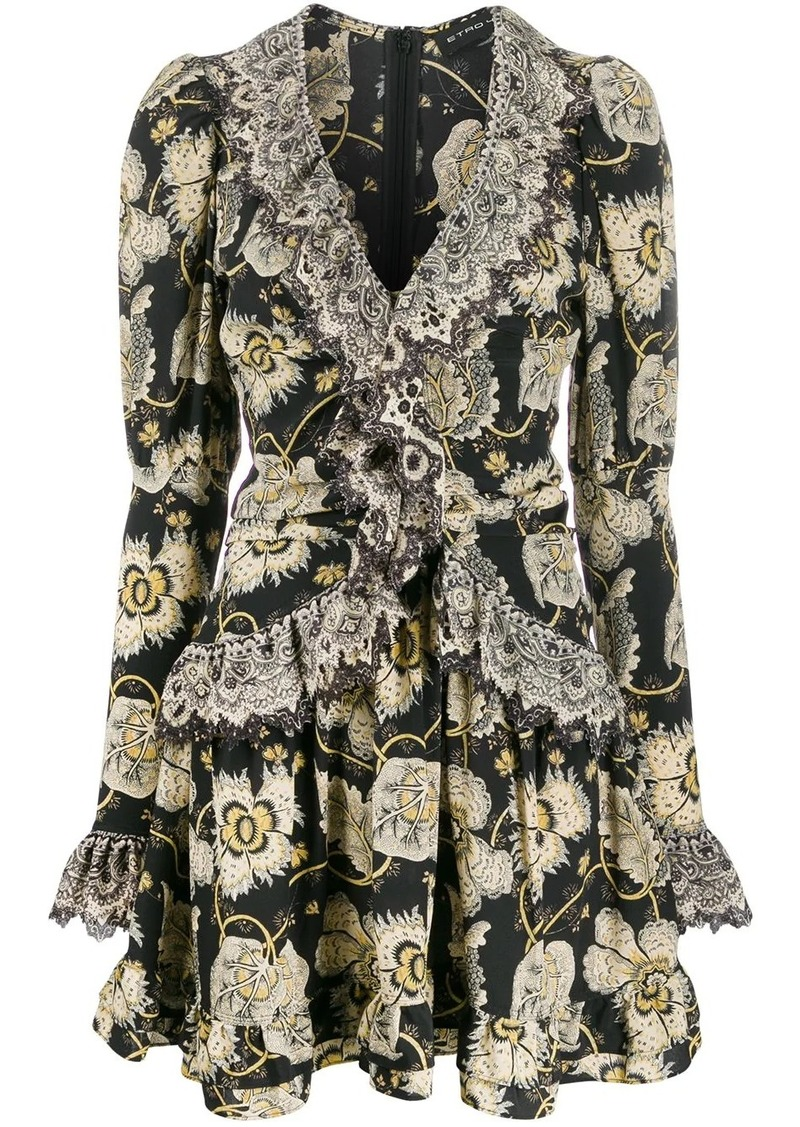Etro floral mini dress