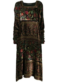 Etro floral paisley embroidered midi dress