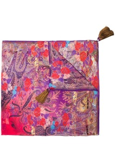 Etro floral paisley print scarf