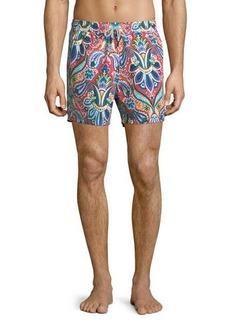 Etro Floral Paisley-Print Swim Trunks