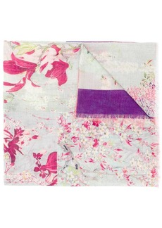 Etro floral patchwork print scarf