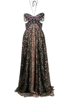 Etro floral patterned maxi dress
