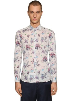 Etro Floral Print Cotton Shirt