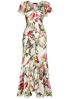 Etro floral print ruffled dress