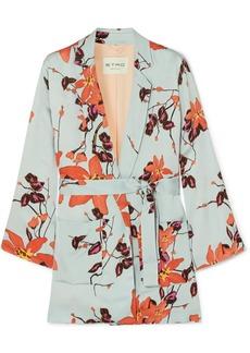 Etro Floral-print satin wrap jacket
