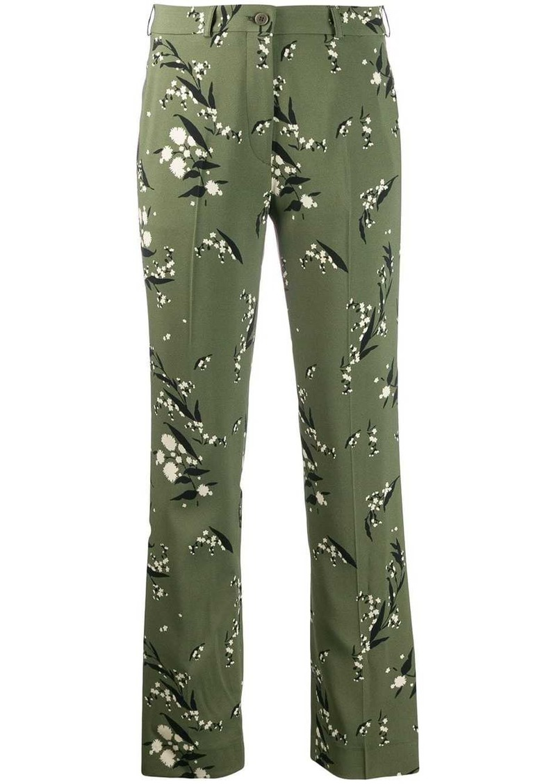 Etro floral print straight trousers