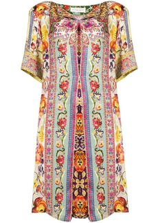 Etro floral print tunic dress