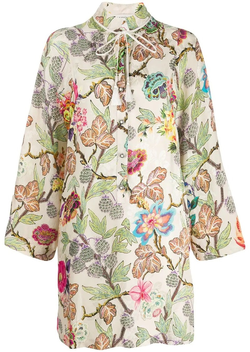 Etro Floral-print tunic dress