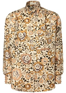 Etro Floral Printed Silk Twill Shirt