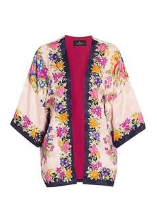 Etro Floral Silk Kimono
