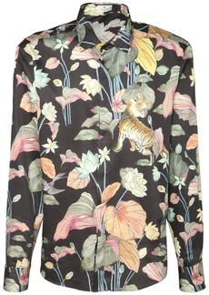 Etro Floral Tiger Printed Cotton Shirt
