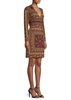 Flouard Paisley Jersey Wrap Dress