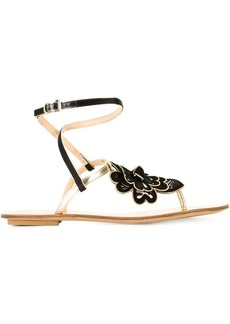 Etro flower flat sandals