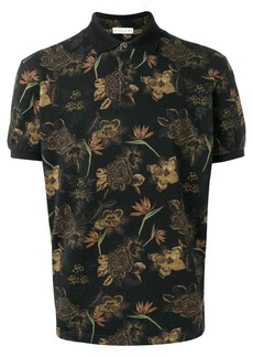 Etro flower print polo shirt