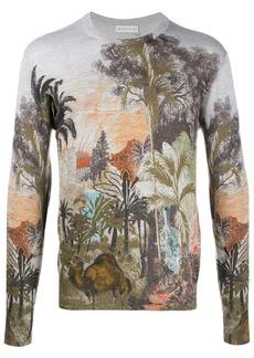 Etro foliage-print jumper