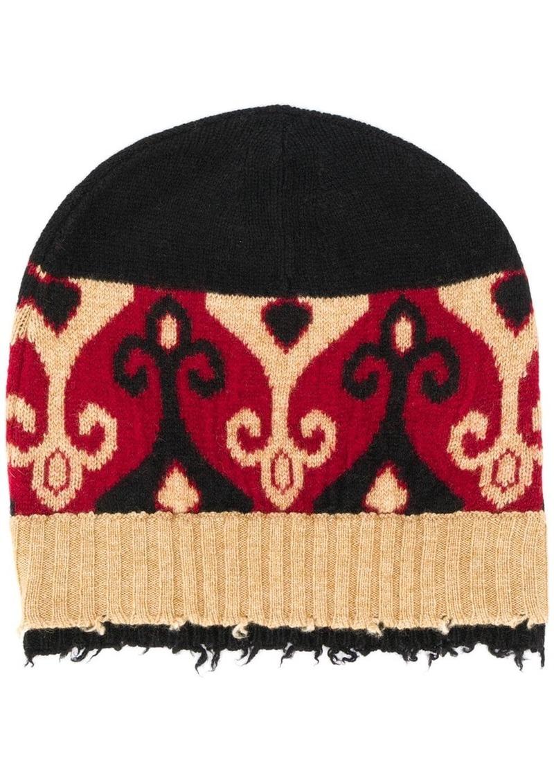 Etro frayed knit beanie