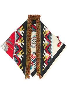Etro fringe jacquard scarf