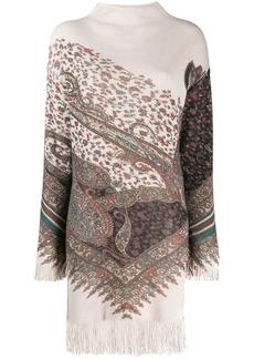 Etro fringe sweater dress
