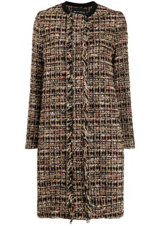 Etro fringed tweed coat