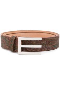 Etro front logo emblem belt