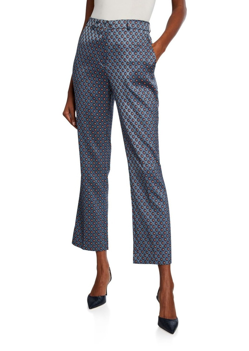 Etro Geometric Jacquard Crop Trousers