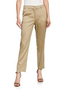 Etro Geometric-Jacquard Floral Pants