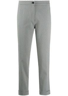 Etro geometric-print cropped trousers