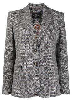 Etro geometric-print jacquard blazer