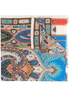 Etro geometric-print silk-blend scarf