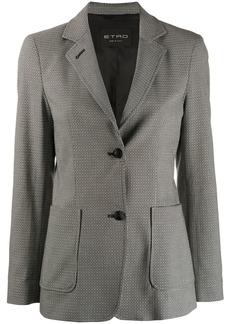 Etro geometric print single breasted blazer