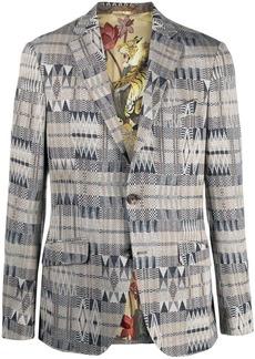 Etro geometric woven blazer